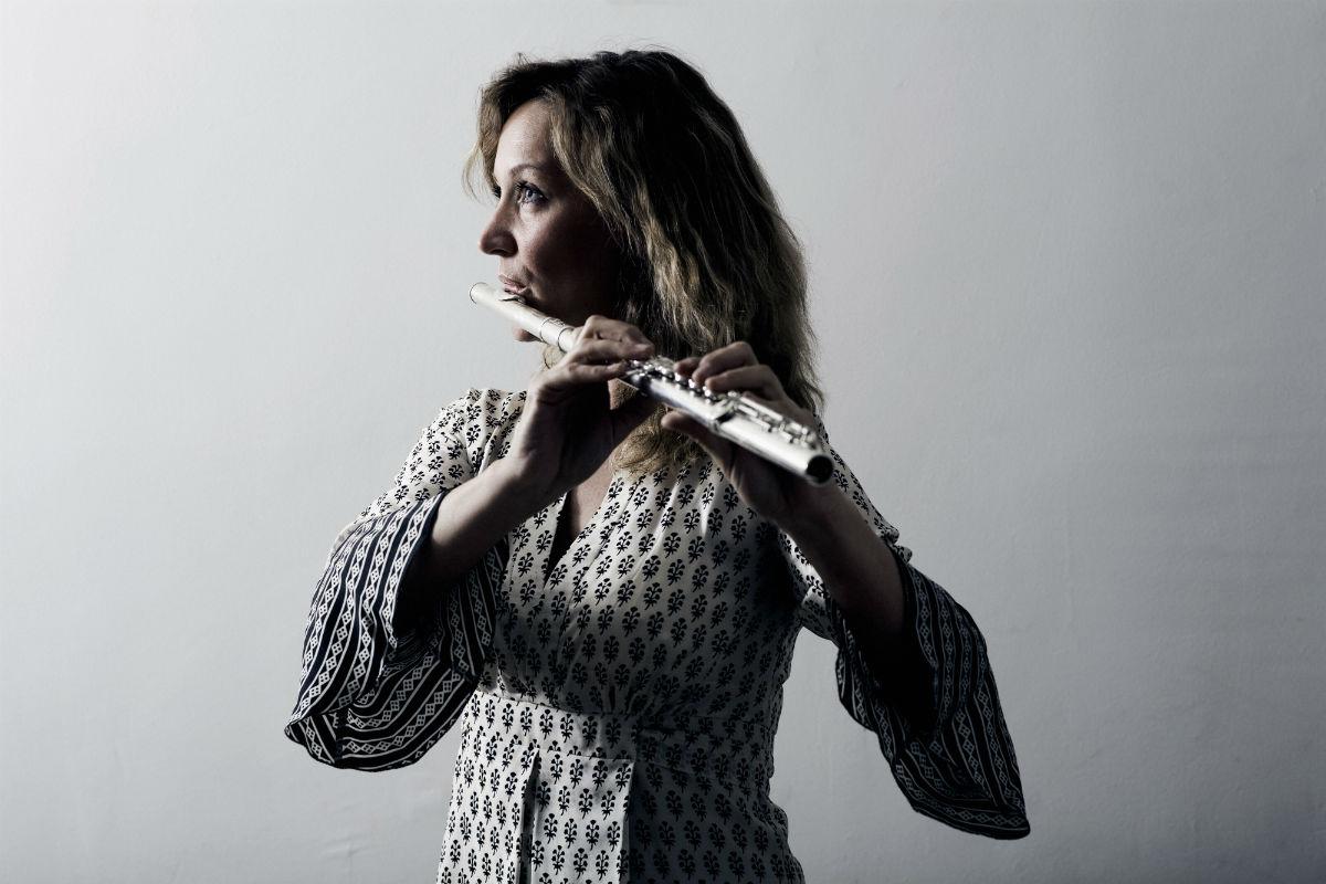 Ulla Miilmann, fløjtenist i Duo Cavatina - foto: Ulrik Jantzen